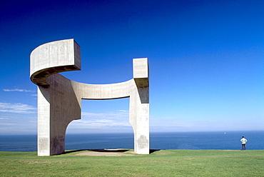 El Elogio del Horizonte by Eduardo Chillida, Gijon, Asturias, Spain, Europe