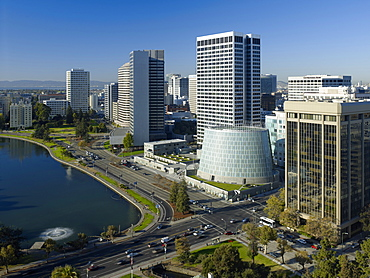 Cathedral of Christ the Light and city, Oakland, California, United States of Americal North America