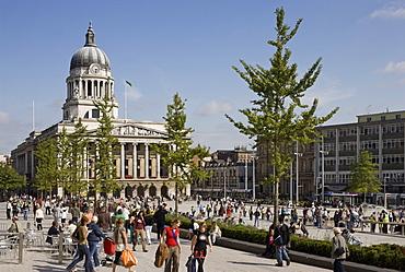 Old Market Square, RIBA Award winning redevelopment by architects Gustafson Porter, Nottingham, Nottinghamshire, England, United Kingdom, Europe