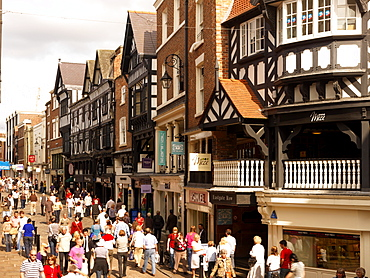 Northgate and Eastgate Row, Chester, Cheshire, England, United Kingdom, Europe