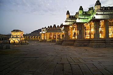 Vittala temple, Vijayanagara, UNESCO World Heritage Site, Hampi, Karnataka, India, Asia