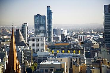 City skyline including Council House 2, Melbourne, Victoria, Australia, Pacific