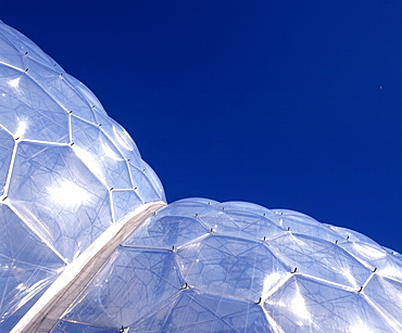 The Eden Project, architects Nicholas Grimshaw and Partners, Bodelva, Cornwall, England, United Kingdom, Europe