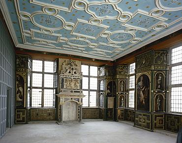 The Star Chamber before matting laid, Bolsover Castle, Bolsover, Derbyshire, England, United Kingdom, Europe