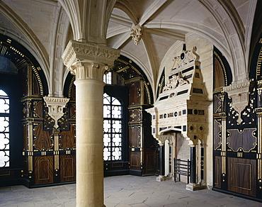The Pillar Parlour, Bolsover Castle, Bolsover, Derbyshire, England, United Kingdom, Europe