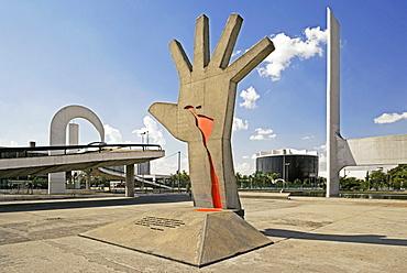 Memorial da America Latina (Monumento) (Mao de America Latina), architect Oscar Niemeyer, Sao Paulo, Brazil, South America