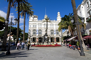 Colonial buildings in Las Palmas, Gran Canaria, Canary Islands, Spain, Europe