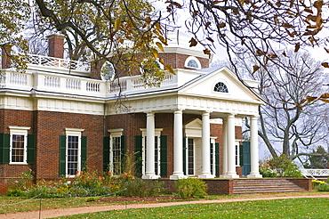 The estate of Thomas Jefferson, Monticello, Virginia, United States of America, North America