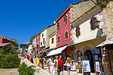 The old town of Mostar, UNESCO World Heritage Site, Bosnia-Herzegovina, Europe