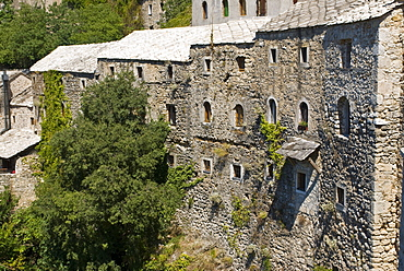 Old stone houses in the old town of Mostar, UNESCO World Heritage Site, Bosnia-Herzegovina, Europe