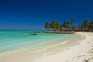 Beautiful beach in Nosy Iranja, a little island near Nosy Be, Madagascar, Indian Ocean, Africa