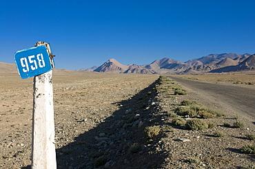 The Pamir highway, the Pamirs, Tajikistan, Central Asia