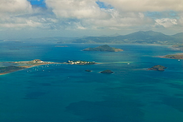 Aerial view of the island of Grand Terre, Mayotte, French Departmental Collectivity of Mayotte, Indian Ocean, Africa