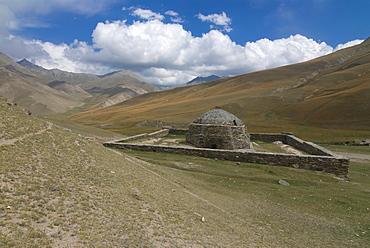 The old caravanserai Tash Rabat along the old Silk Road, Torugart Pass, Kyrgyzstan, Central Asia