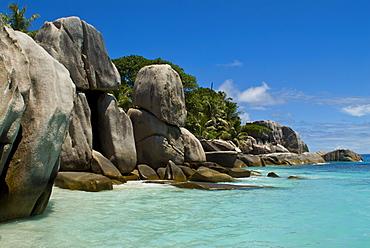 Granite rocks at Ile de Coco, Seychelles, Indian Ocean, Africa