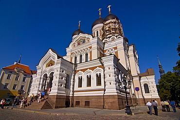 Alexander Nevsky Cathedral in Tallinn, Estonia, Baltic States, Europe