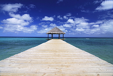 Boat pier on the island of Mayotte, Comoros, Indian Ocean, Africa