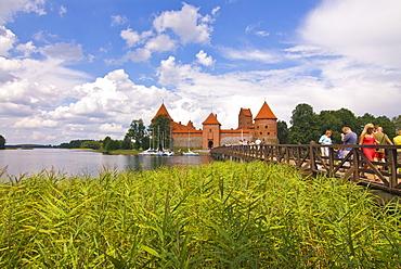 The island castle of Trakai, Lithuania. Baltic States, Europe