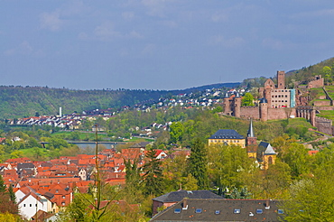 The historic town of Wertheim and its castle, Baden Wurttemberg, Germany, Europe