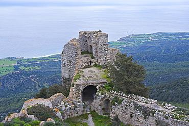 Crusader castle, Kantara, Turkish part of Cyprus, Cyprus, Europe