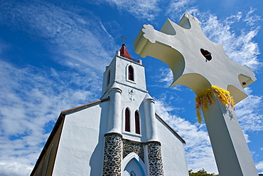 Church near Pouebo on the east coast of Grande Terre, New Caledonia, Melanesia, South Pacific, Pacific
