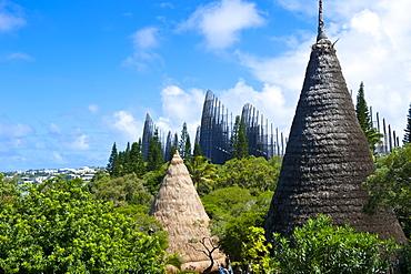 Tjibaou cultural center in Noumea, New Caledonia, Melanesia, South Pacific, Pacific
