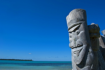 Traditional wood carving at the Ile des Pins, New Caledonia, Melanesia, South Pacific, Pacific