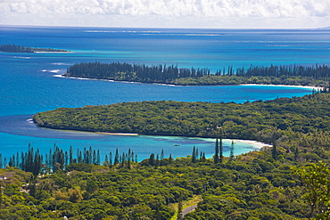 View over the Ile des Pins, New Caledonia, Melanesia, South Pacific, Pacific