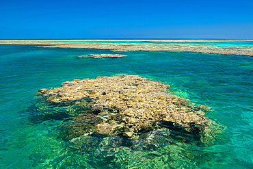 Aerial of the Great Barrier Reef. UNESCO World Heritage Site, Queensland, Australia, Pacific