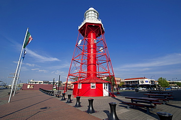 Lighthouse on a pier in Port Adelaide, Adelaide, South Australia, Australia, Pacific