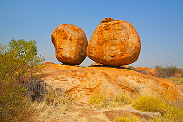 Granite boulders in the Devil's Marbles Conservation Reserve, Northern Territory, Australia, Pacific