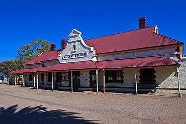 Historical Railway station in Quorn near the Flinders Range National Park, South Australia, Australia, Pacific
