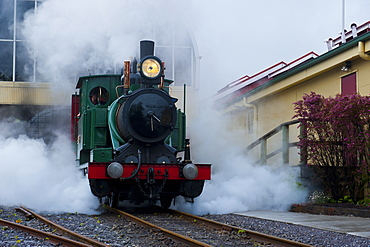 Old steam train, Queenstown, Tasmania, Australia, Pacific