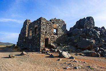 Bushiribana Gold Mine ruins in Aruba, ABC Islands, Netherlands Antilles, Caribbean, Central America