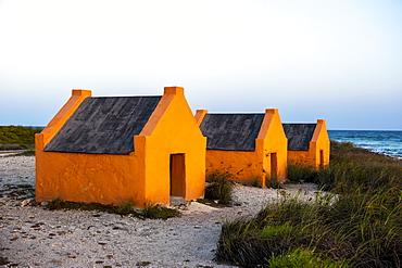 Slave huts in Bonaire, ABC Islands, Netherlands Antilles, Caribbean, Central America