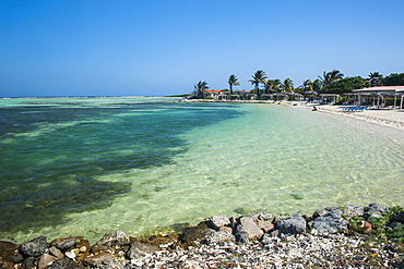 Turquoise water Lac Bay, Bonaire, ABC Islands, Netherlands Antilles, Caribbean, Central America