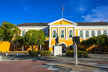 Fort Amsterdam in Willemstad, UNESCO World Heritage Site, Curacao, ABC Islands, Netherlands Antilles, Caribbean, Central America
