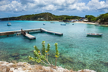 Bay of Kleine St. Michel in Curacao, ABC Islands, Netherlands Antilles, Caribbean, Central America