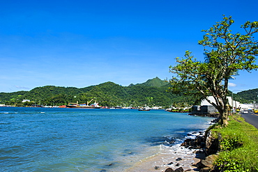 The Pago Pago harbour on Tutuila Island, American Samoa, South Pacific, Pacific