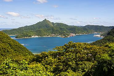 The Pago Pago harbour, Tutuila island, American Samoa, South Pacific
