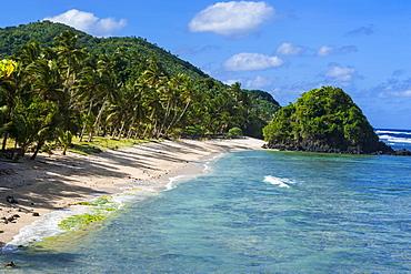 Two Dollar Beach on Tutuila Island, American Samoa, South Pacific, Pacific