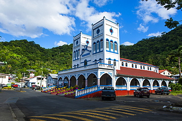 Cathedral in downton Pago Pago, Tutuila island, American Samoa, South Pacific, Pacific