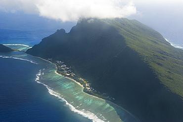 Aerial of Ofu Island, Manua Island group, American Samoa, South Pacific, Pacific