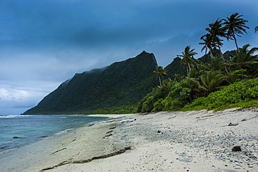 White sand beach on Ofu Island, Manua Island group, American Samoa, South Pacific, Pacific