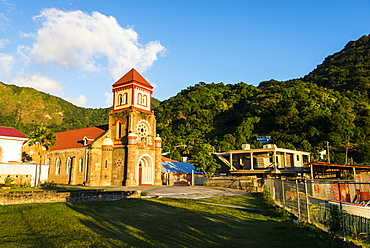 Anglican church in Soufriere, Dominica, West Indies, Caribbean, Central America