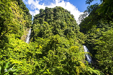 Trafalgar Falls, Morne Trois Pitons National Park, UNESCO World Heritage Site, Dominica, West Indies, Caribbean, Central America
