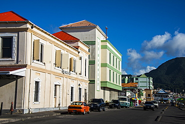 Downtown Roseau capital of Dominica, West Indies, Caribbean, Central America