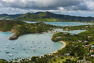 View over English Harbour, Antigua, Antigua and Barbuda, West Indies, Carribean, Central America