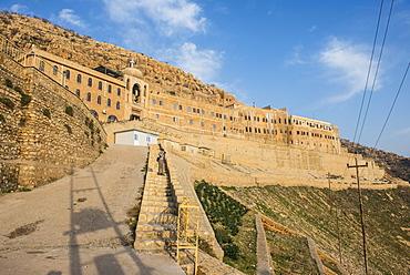 Syrian Orthodox Monastery Mar Mattai, (St. Matthews Monastery) overlooking Mosul, Iraq, Middle East