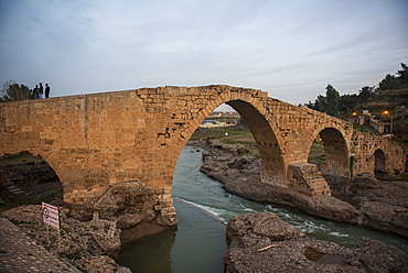 The Dalai bridge from the time of the Abbasids in Zakho on the border of Turkey, Iraq Kurdistan, Iraq, Middle East